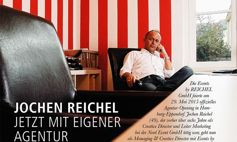 "Events by REICHEL in the management-magazine for live-communication ""events"" 03/15"